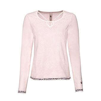 Basic Shirt mit Schnürung, rosenholz