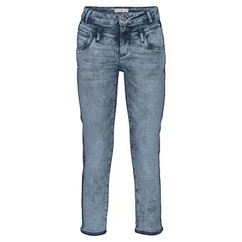 Hose mit Schmucksteinchen 64cm, light blue