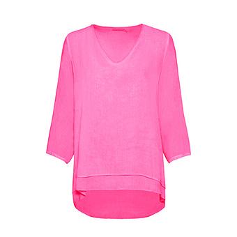 Bluse im Layering-Look, pink glow