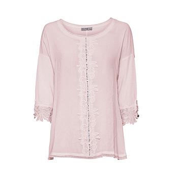 Basic Shirt mit Viskose, rosenholz