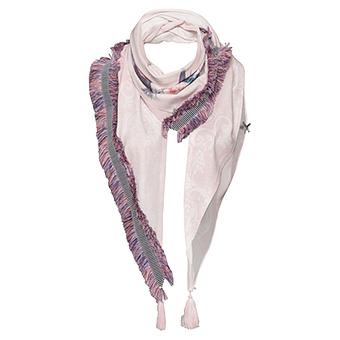 Schal mit Floral-Print, rosé
