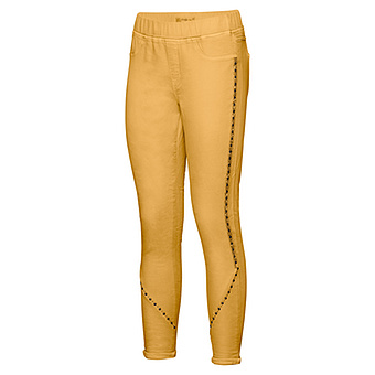 Sweat-Jegging mit Glitzer- Galonstreifen 64cm, curry