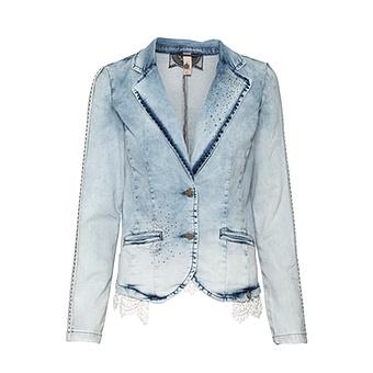 Blazer in Jeans-Optik, light blue