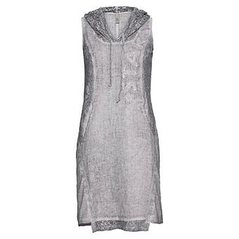Kleid mit Spitze, silber