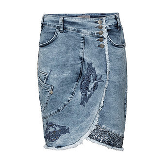 Jeansrock in Wickel-Optik, blue
