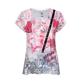 Shirt im vielfältigen Design, pink