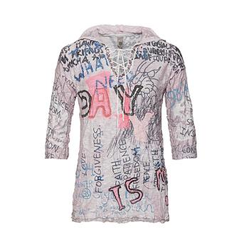 Alloverprint-Shirt mit Viskose, rosenholz