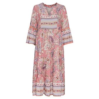 Maxi-Kleid im Alloverprint, rosenholz