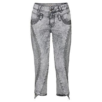 Sweat-Jeans mit Nieten 55cm, light grey