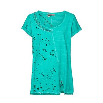 Basic Shirt mit Loch-Optik, arctic