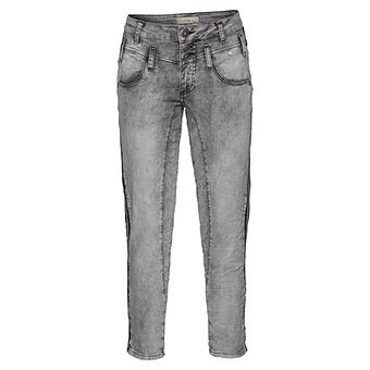 Jeans mit Galonstreifen 64cm, hellgrau