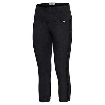 Baumwoll-Leggings mit Zierborte 55cm, schwarz