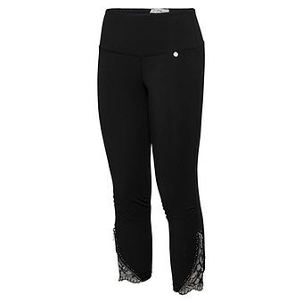 Baumwoll Leggings mit Reißverschluss 55cm, schwarz