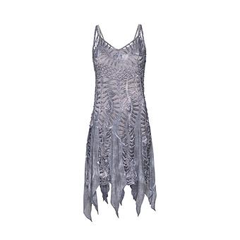 Kleid in Häkel-Optik, titan