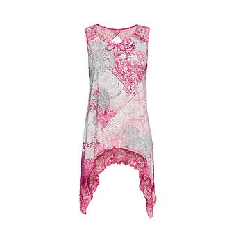 Top im Alloverprint, hot pink