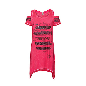 Shirt mit Cut-Out, hot pink
