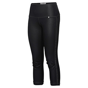 Baumwoll-Leggings mit Leder-Optik, navy