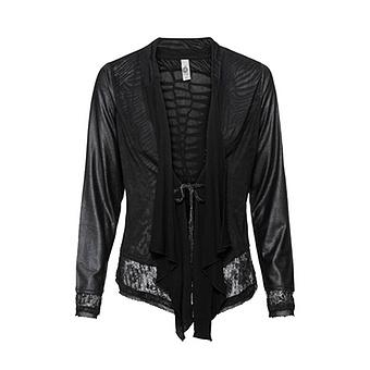 Shirt-Jacke im Animal-Design, schwarz