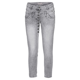 Sweat-Jeans im Worker-Style 64cm, light grey crashed