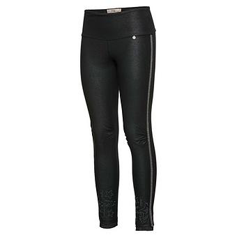 Baumwoll-Leggings mit Leder-Optik 72cm , schwarz