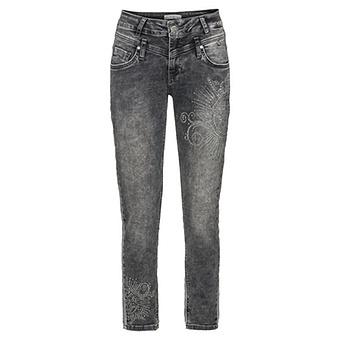 Sweat-Jeans mit Glitzersteinchen 70cm, grey