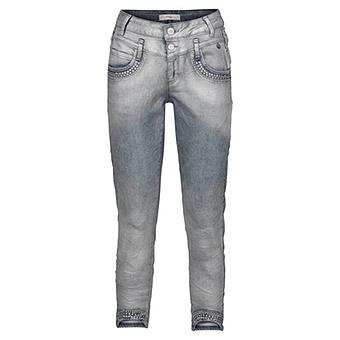 Sweat-Jeans im Metallic-Look 64cm, blue crashed