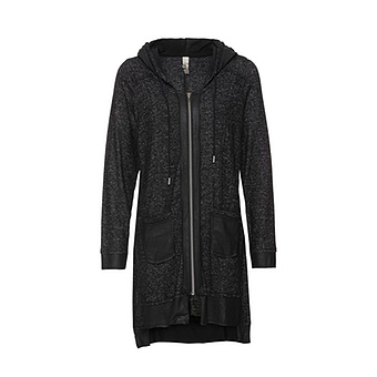 Shirt-Jacke mit Animal-Details, anthra-melange