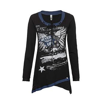 Shirt mit Stern-Patch, schwarz