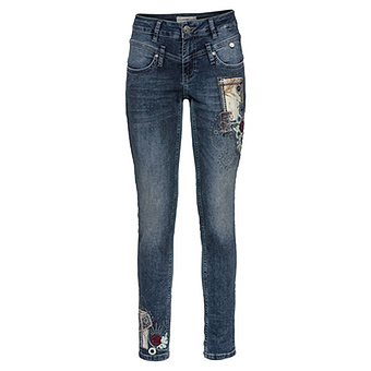 Sweat-Jeans mit Patches 78cm, blue