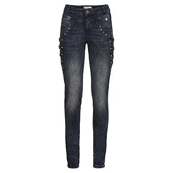 Sweat-Jeans mit Kreuzschnürung 80cm, dark blue