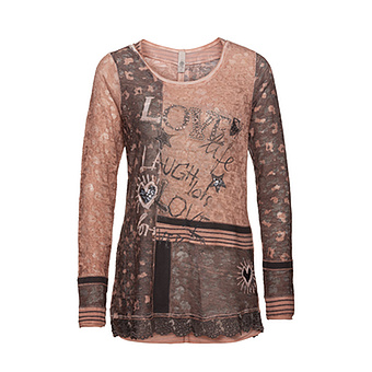 Shirt im Animal-Design caramel