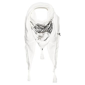 Schal mit Pailletten, offwhite