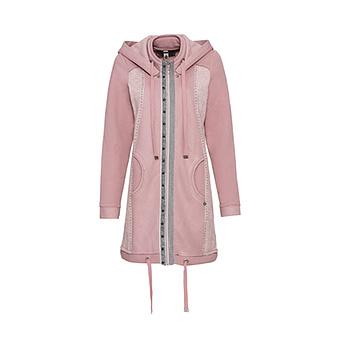 Mantel mit abtrennbarer Kapuze, rosenholz