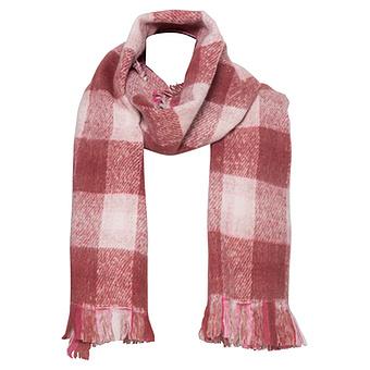 Schal kariert, pink