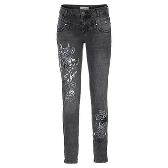 Sweat-Jeans mit Print 78cm, dark grey