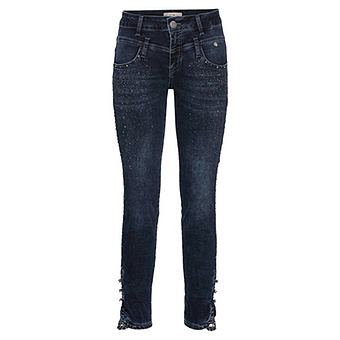 Sweat-Jeans mit Glitzersteinchen 70cm, dark blue