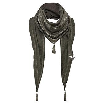 Schal mit Flecht-Design, khaki