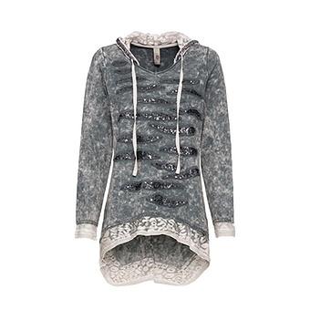 Sweat-Pullover mit Pailletten, eiffelturm