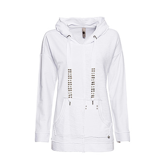 tredy Fashion Onlineshop | Hoodie aus 100% Cotton, weiss