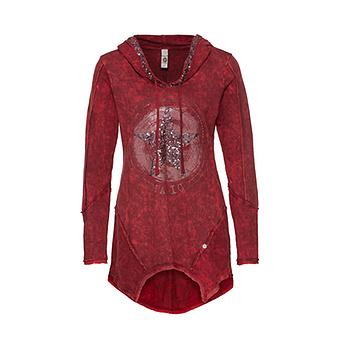 Sweat-Shirt mit Stern-Design, chianti
