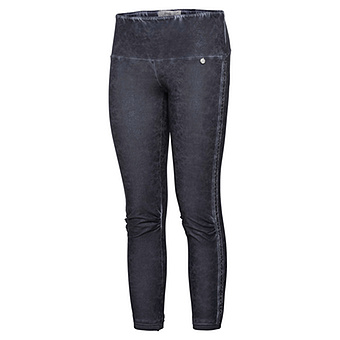 Baumwoll-Leggings in Leder-Optik 64cm, navy