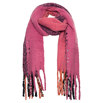 Schal in Kuschel-Optik, pink
