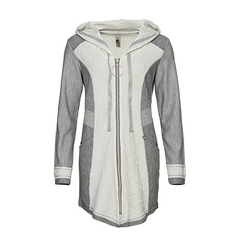 tredy Fashion Onlineshop | Sweat Jacke mit Struktur, hellgrau