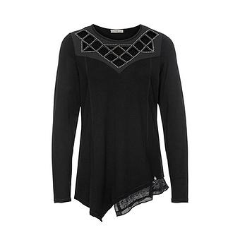 Shirt mit Cut-Outs, schwarz