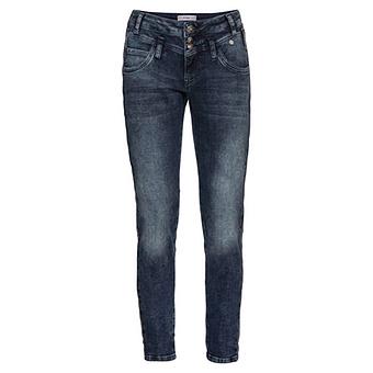 Sweat-Jeans 70cm, dark blue denim