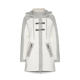 Jacke mit Patches, offwhite