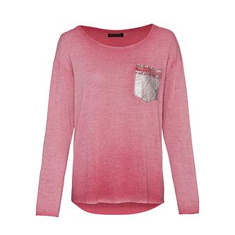 Shirt mit Brusttasche, cranberry
