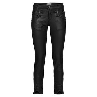 Hose in Leder-Optik, schwarz