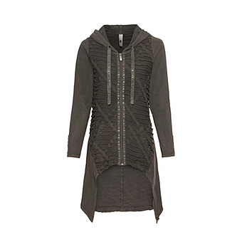 Shirt-Jacke mit Loch-Struktur, khaki