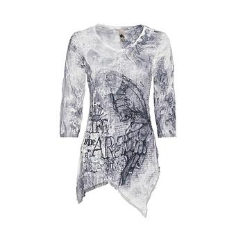 Crash-Shirt im Alloverprint, silber-grau